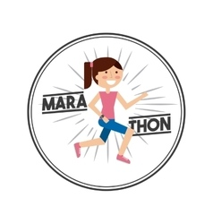 Marathon competition design vector