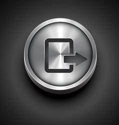Metallic icon vector