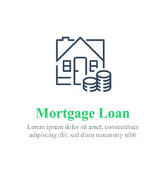 Mortgage loan payment concept vector