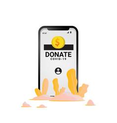 Online donate for corona virus isolated on white vector