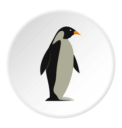 Penguin icon circle vector