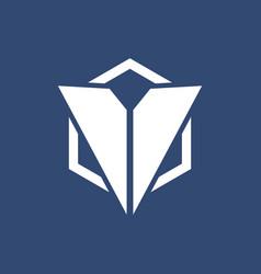 polygon triangle company logo vector image