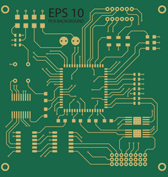 Printed circuit board background vector