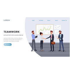 professional business team landing page template vector image