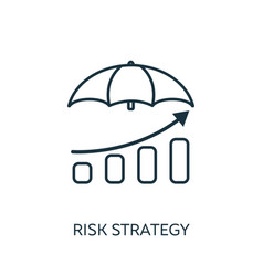 Risk strategy outline icon thin line concept vector