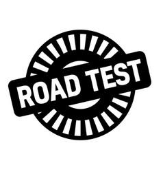 Road test black stamp vector
