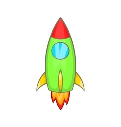 Rocket icon cartoon style vector