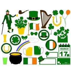 Saint Patrick s Day set vector image