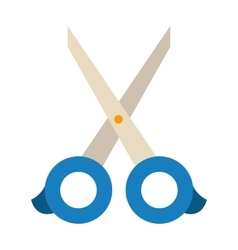 Scissors on white vector image