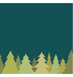 seamless border from pine fir tree and night sky vector image