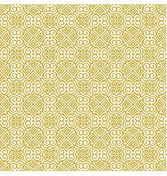Seamless golden ornament in oriental style vector