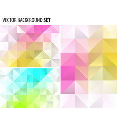 set of abstract polygonal background design vector image