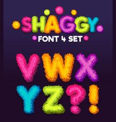 Shaggy font 4 set vector