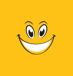 Smile emotion icon vector