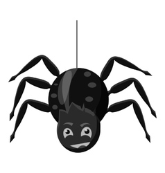 Spider icon gray monochrome style vector image