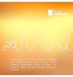 Style line of vine design vector image