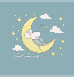 sweet dreams for kids vector image