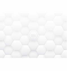 tech 3d hexagons white abstract background vector image
