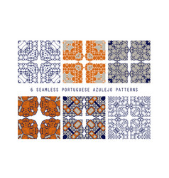 traditional ornate portuguese decorative vector image