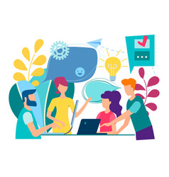 training of office staff increase sales and skills vector image