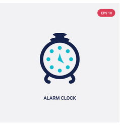Two color alarm clock icon from education 2 vector