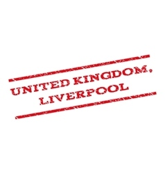 United Kingdom Liverpool Watermark Stamp vector