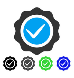 Valid seal flat icon vector