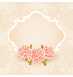 Vintage Floral background greeting card template vector