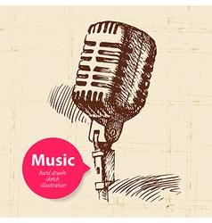 Vintage music background vector