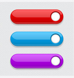 web colored buttons oval interface icons vector image