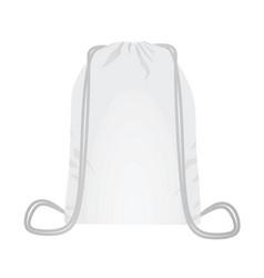 white backpack bag vector image