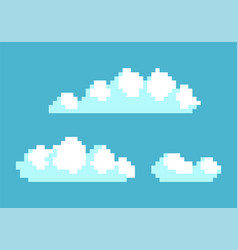 white clouds in blue sky pixel vector image