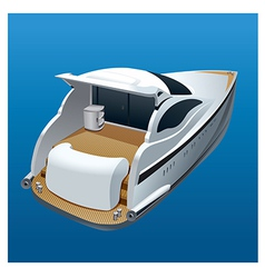 Yacht back view vector