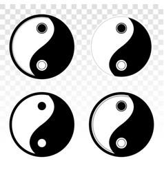 Ying yang or yin yang balance flat icon for apps vector