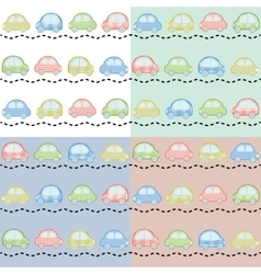 colorful little cars vector image vector image