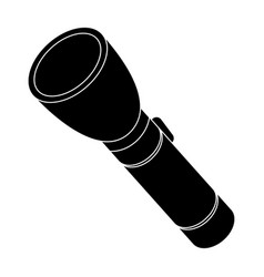flashlight lighting facility for the detective vector image vector image