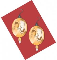 golden earring vector image