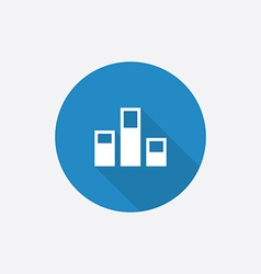 levels Flat Blue Simple Icon with long shadow vector image vector image