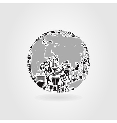 Music a planet vector image