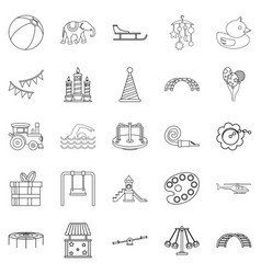 physical education icons set outline style vector image vector image