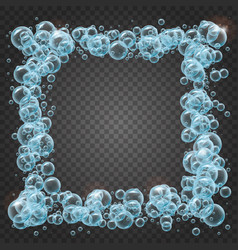 shampoo frame of realistic water bubbles vector image vector image