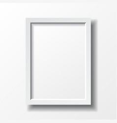 White vertical frame vector image