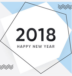 2018 happy new year card and background vector image vector image