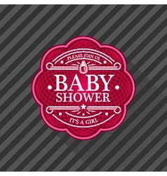 Baby Shower Emblem vector image