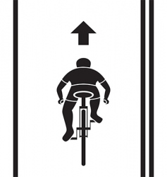 bicycle path sign vector image