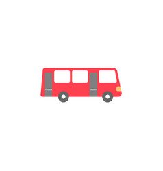 Bus solid icon navigation and transport sign vector