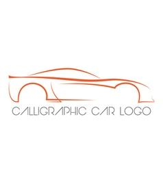 Calligraphic car logo vector image vector image