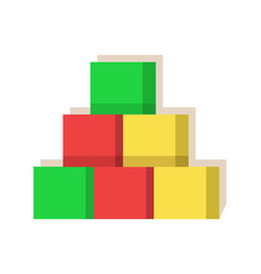cubes multi colored factory vector image