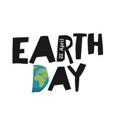earth day ecology logotype template earth planet vector image