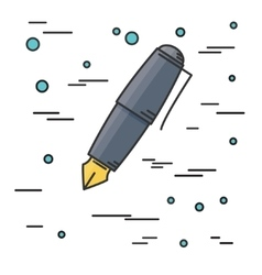 Fountain pen icon think line icon vector